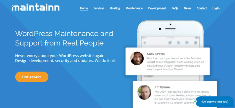 Maintainn - WordPress Maintenance and Support from Real People